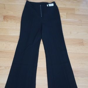Black wide length pants